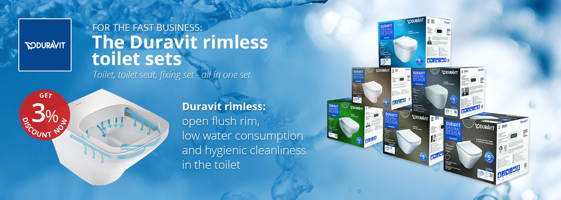 Duravit Rimless WC sets