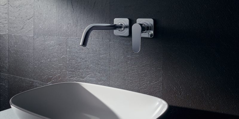 Axor Citterio M washbasin faucet wall-mounting
